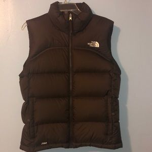 Chocolate Brown North Face Vest